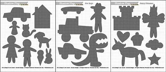 Shadow Puppet printables by Jen Goode