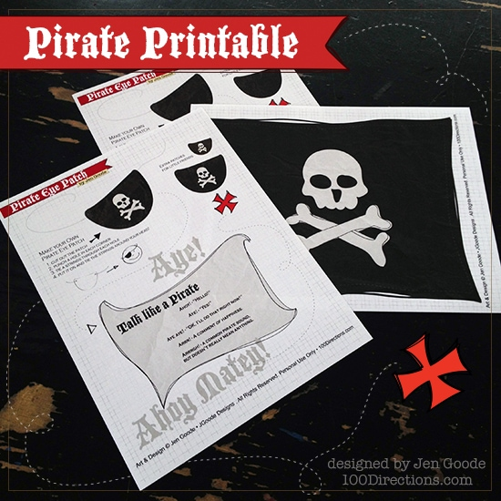 Pirate printables by Jen Goode