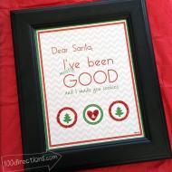 Dear Santa Christmas Art Print and DIY Decor