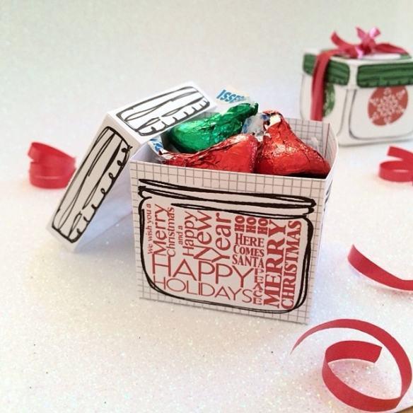 Mini mason jar gift box - free printable by Jen Goode