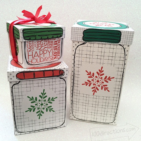 Mason Jar gift boxes designed by Jen Goode