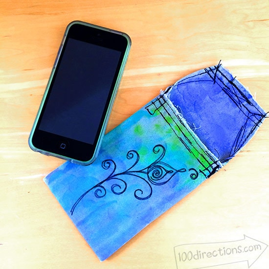 Peacock colored iphone case