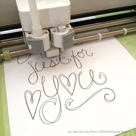 Drawing with the Cricut Explore by Jen Goode
