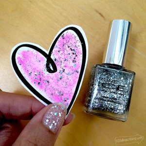 Add glitter to your projects with nail polish