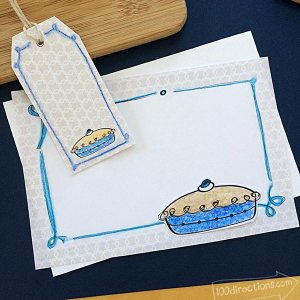 Cut pie art printables by Jen Goode