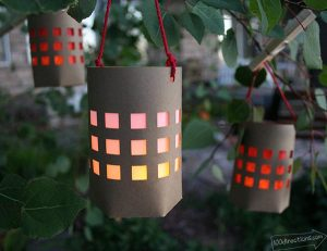 Paper Picnic Lantern designed by Jen Goode