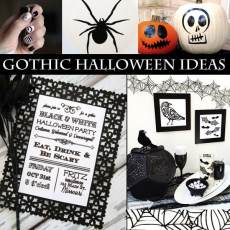 Gothic Halloween DIY Decor Ideas