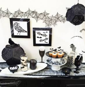 Gothic Halloween Party Decor designed by Jen Goode and made with Cricut
