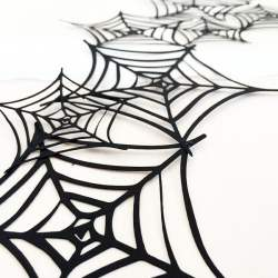 Make A Spiderweb Garland for Halloween