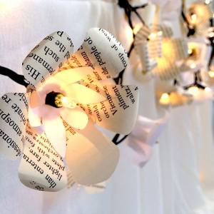 Floral lighted garland with Cricut Explore designed by Jen Goode