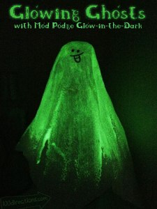 Make glowing Ghost with Mod Podge Glow-in-the-Dark