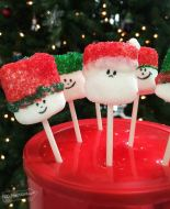 Marshmallow Pop Santa Treats