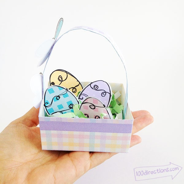 Tiny Easter basket you can print and make