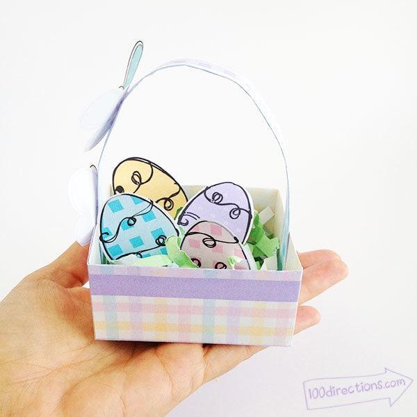 Tiny Easter basket you can print and make