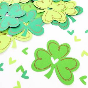 Shamrock cutouts designed by Jen Goode