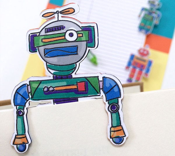 Robot Reading kit and bookmark designed by Jen Goode