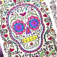 Sugar Skull Coloring Page for Dia De Los Muertos