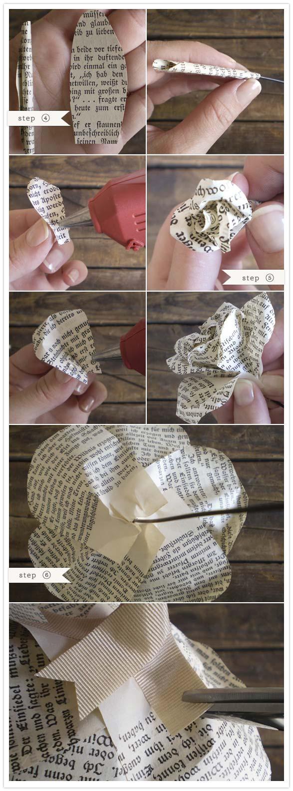 Как сделать цветок из газет