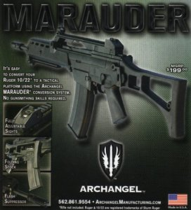 Archangel Marauder Ruger 10/22 G36 Folding Stock
