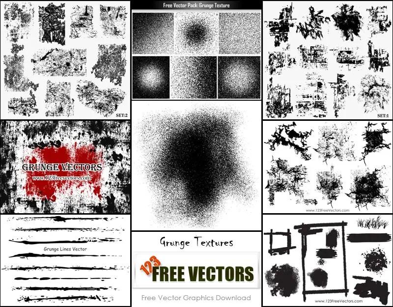 Free Vector Grunge Texture Illustrator Pack | 123Freevectors