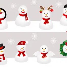 snowman-illustrations-free-vector