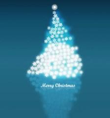 282-vector-snowflake-christmas-tree-background-image
