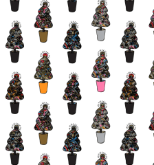 309-doodle-christmas-trees-photoshop-illustrator-pattern-swatches