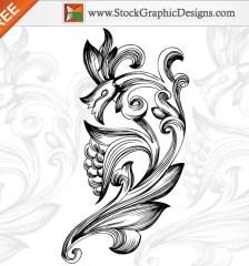 040-free-ornamental-floral-elements-vector-l