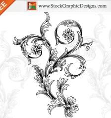 056-free-hand-drawn-decorative-floral-vector-l
