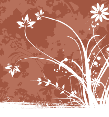 267-flower-decoration-brown-background-vector-image