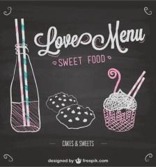 078-love-menu-chalkboard-template-vector
