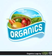 082-organics-logo-free-vector