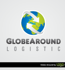 102-globe-around-logistics-logo-template