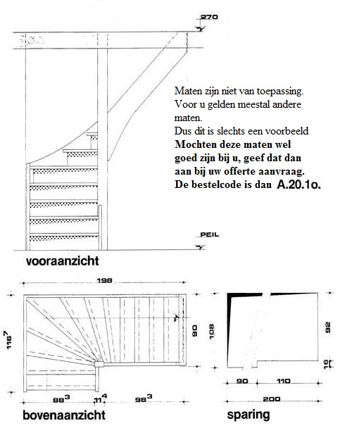 Houten trappen op maat gemaakt bij maatkracht for Trap onderkwart