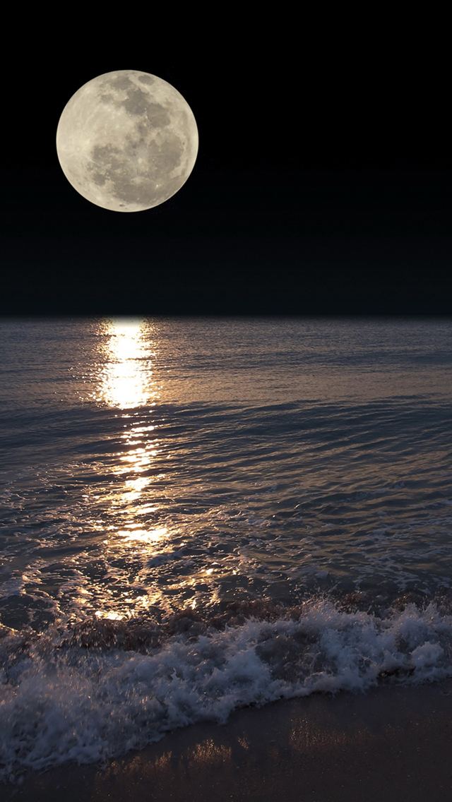 Beautiful Full Moon Mobile Wallpaper Phone Background