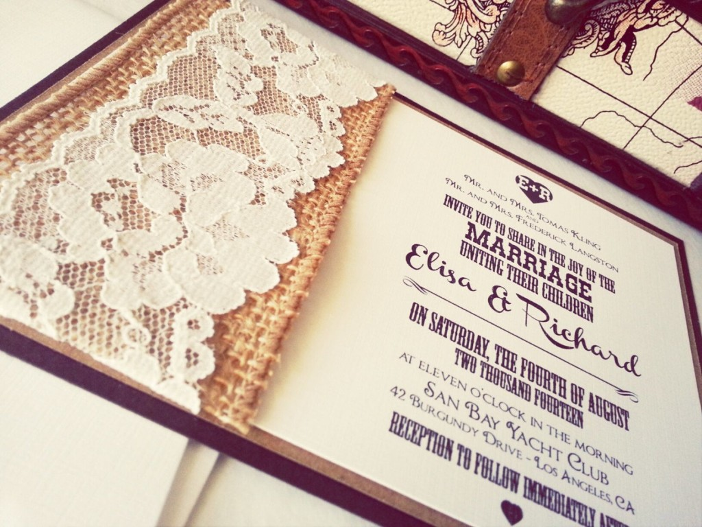 do it yourself burlap and lace wedding invitations burlap wedding invitations Real Burlap And Lace Wedding Invitations Invitation Ideas