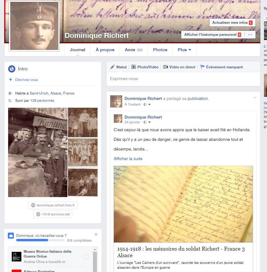 Face book Dominique Richert