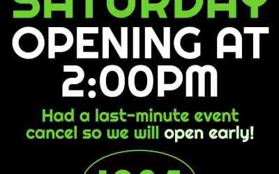 Opening Early Today 4/14/17