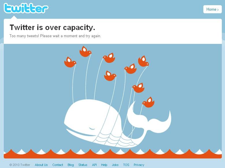 ツイッターのクジラ【Twitter is over capacity.】とは