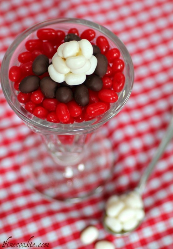 Chocolate covered jelly beans make a great sundae 2