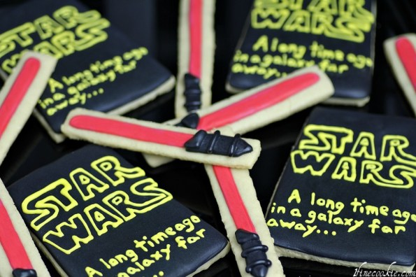 Light Saber and Star Wars Cookies