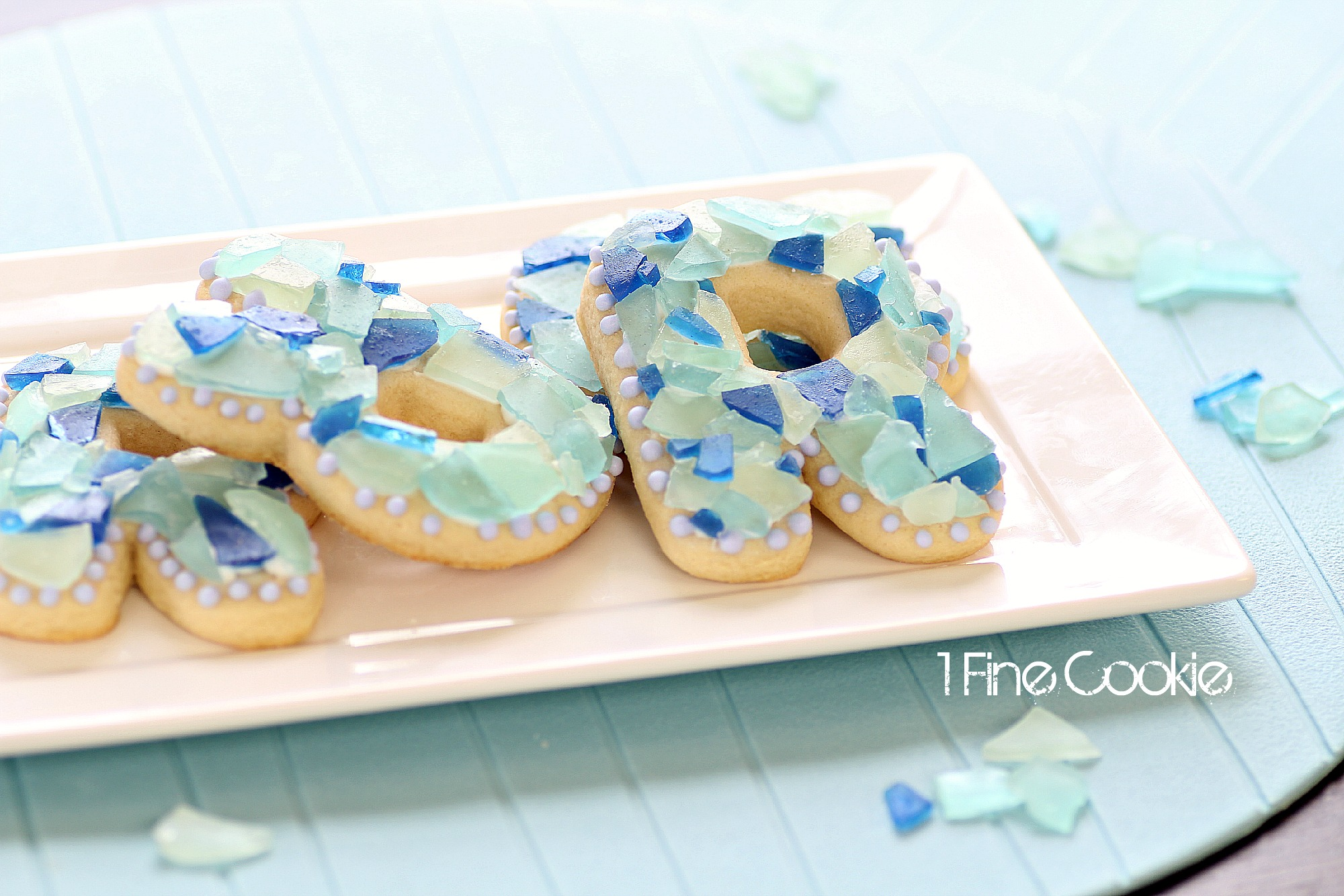 sea glass candy cookies