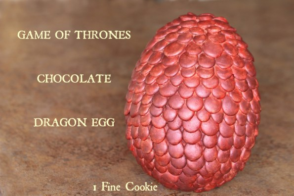 Game of Thrones Chocolate Dragon Egg Recipe by 1 Fine Cookie, Game of Thrones, HBO, recipe, tutorial, how to make, chocolate, dragon, egg, easter, khaleesi, tv, telivision, pop culture, reference, ideas, scale, edible, giant, diy, craft, feast of fire and ice, cookbook, food, dessert, candy, chocolate, mold, egg, chocoley, instructions,