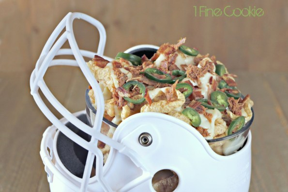 Three Little Pigs Nachos with pork rinds, bacon, and pulled pork by 1 Fine Cookie, pulled pork, pork rinds, bacon, white, queso, cheddar, sauce, green, hatch, chiles, sports, football, tailgate, shredded, cheese, appetizer, super, bowl, superbowl, recipes, ideas, parties, easy, food porn, deflategate, patriots, seahawks, ridiculous, jalapeno, bake, how to, make, baseball, stadium, recipe, hack, bowl, helmet, diy,