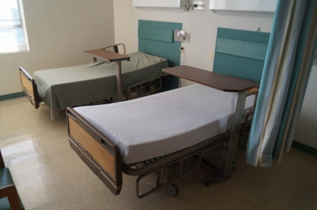 We sell hospital beds to hospitals, nursing homes, and residential homes - refurbished medical beds 858-263-4894
