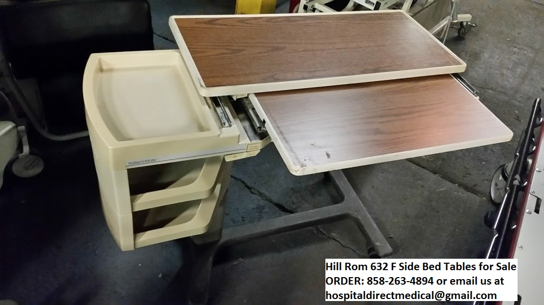 hill rom side bed table 632 f for sale