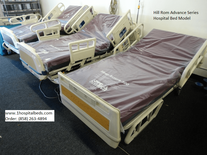 Used Hill Rom and Stryker hospital bed models in stock 858-263-4894