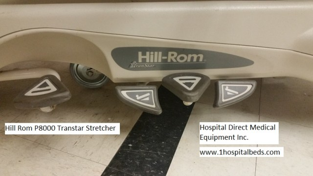 Hill Rom P8000 Transtar stretcher Trendelenburg adjustment pedals order stretcher 858-263-4894