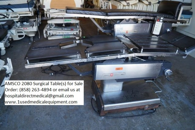 AMSCO 2080 Surgical Tables for Sale used refurbished