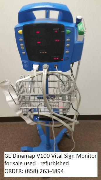 GE Dinamap CARESCAPE V100 vital sign patient monitor for sale used refurbished 858-263-4894
